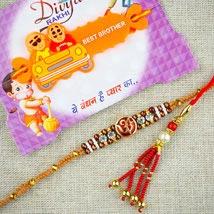 Bhaiya Bhabhi With Kids Rakhi Set: Send Rakhi for Kids to Australia