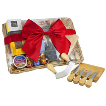 Cheese Set Picnic Basket: Birthday Gifts Adelaide
