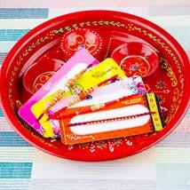 Four Rakhi With Traditional Thali: Rakhi to Sydney
