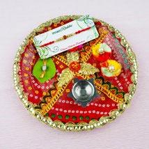 Pyar Bhara Rakhi with Traditional Thali: Send Rakhi to Sydney
