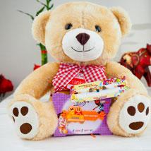 Super Hiro Two Rakhi with Teddy Bear: Rakhi for Kids Australia