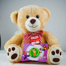 Super Kids Rakhi With Teddy: Send Rakhi to Sydney