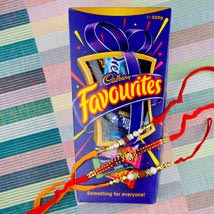 Three Hiro Rakhi Set With Cadbury Favourite: Australia Rakhi Delivery