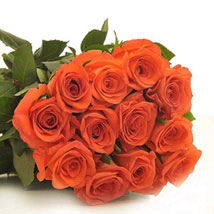 12 Orange Roses: Send Anniversary Gifts to Vancouver