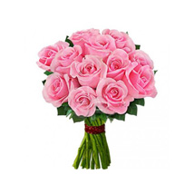 12 pink roses: Send Thank You Flowers to Canada