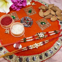 Amazing Set Of Two Thali With Almond: Rakhi to Toronto