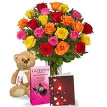 Chocolatey Teddy Mix: chocolate Gift Baskets in Canada