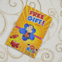 Chota Bheem Flower Rakhi With Free Gift: Send Rakhi to Toronto