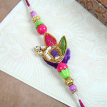 Colourful Zardozi Rakhi: Send Rakhi to Toronto