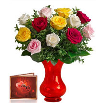 Mix Roses Bunch: Gifts to Canada for Friend