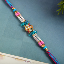Muticolour Sparkling Rakhi: Send Rakhi to Toronto