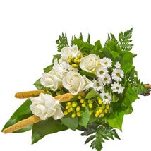 Sympathy Bouquet in White: Send Gifts to Frankfurt
