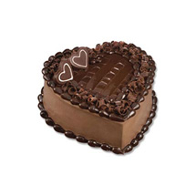 Chocolate Heart Cake: Gifts To Indonesia