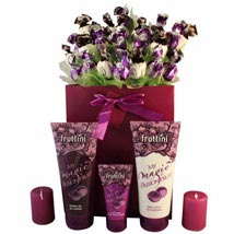 Deep purple with spa: Gifts to Italy