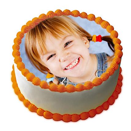1kg Butterscotch Photo Cake by FNP