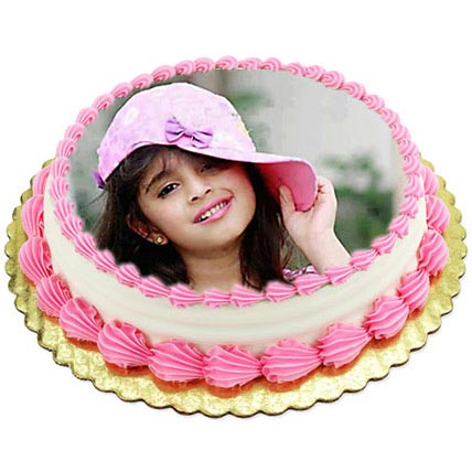 1kg Photo Cake Pineapple by FNP