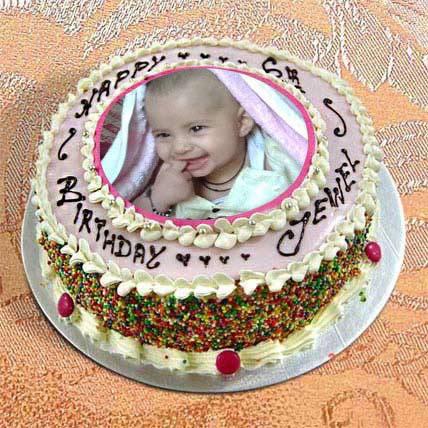 1kg Photo Cake Vanilla Sponge
