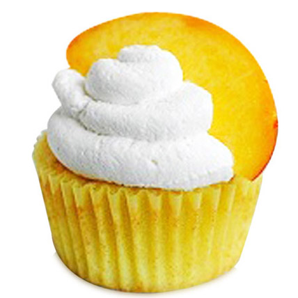 6 Peaches and Cream Cupcakes by FNP