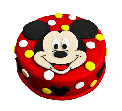 Adorable Mickey Mouse Cake 1kg Eggless