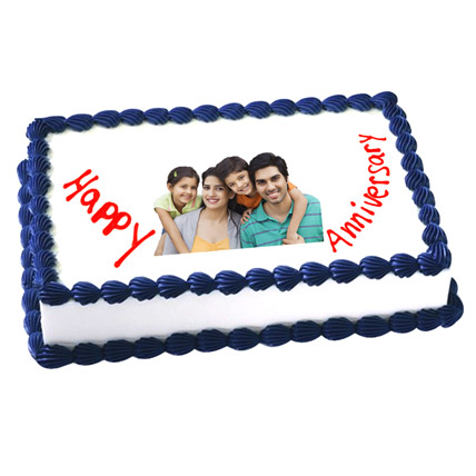 Anniversary Photo Cake 1kg Eggless