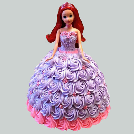 Barbie in Floral Roses Cake Pineapple 3kg