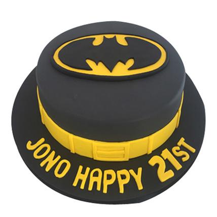 Batman Fondant Cake 2kg Eggless