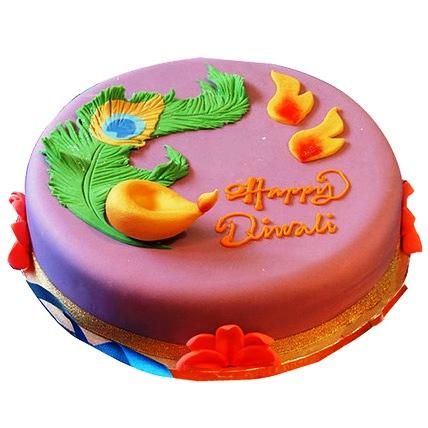 Beautiful Deepavali Cake 3kg Eggless
