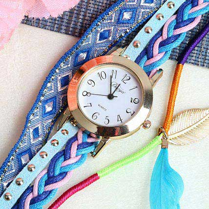 Blue Braided Women Watch