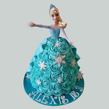 Blue Roses Barbie Cake Black Forest 3kg