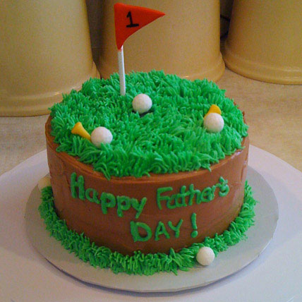 Cake For Golfer Dad Half kg