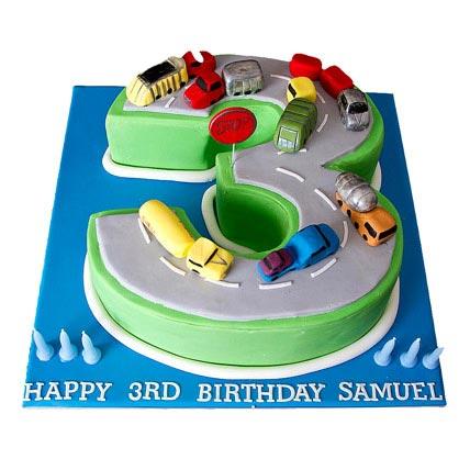 Cars Birthday Cake 2kg Eggless Vanilla