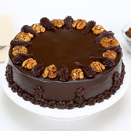 Chocolate Walnut Cake Half kg Eggless