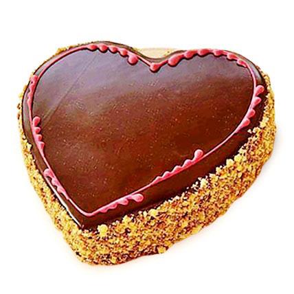 Chocolaty Heart Cake 3kg Eggless