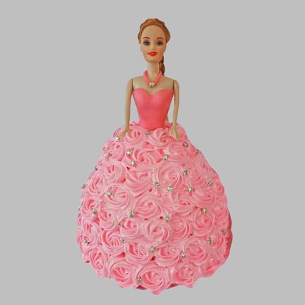 Classy Barbie Cake Truffle 2kg Eggless