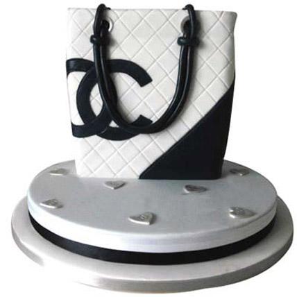 Classy Chanel Bag Cake 3kg Chocolate