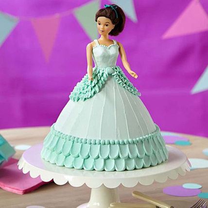 Cool Blue Barbie Cake Butterscotch 3kg Eggless