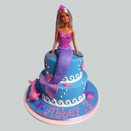 Cute Mermaid Barbie Cake 2kg Eggless