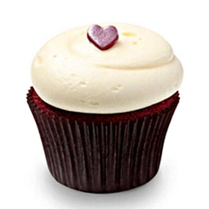 Cute Red Velvet Cupcakes 12 Eggless