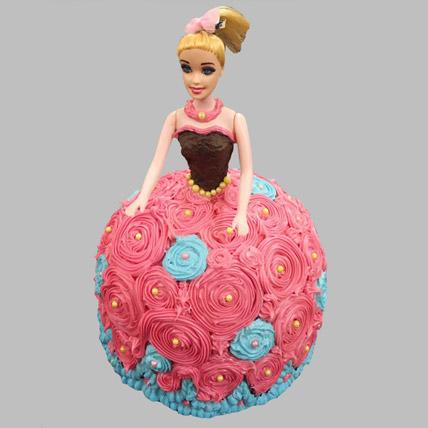 Dashing Barbie Cake Black Forest 3kg Eggless
