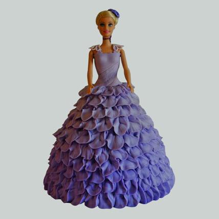 Dazzling Blue Barbie Cake Vanilla 3kg