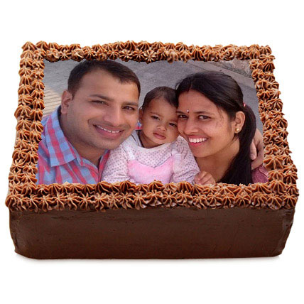 Delicious Chocolate Photo Cake 3kg Eggless