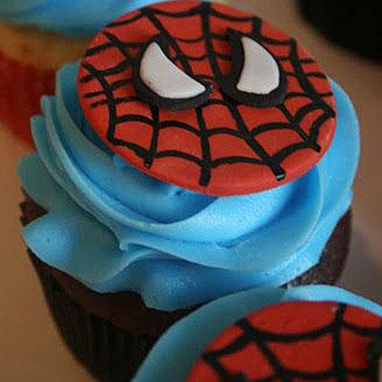 Delicious Spiderman Cupcakes 6