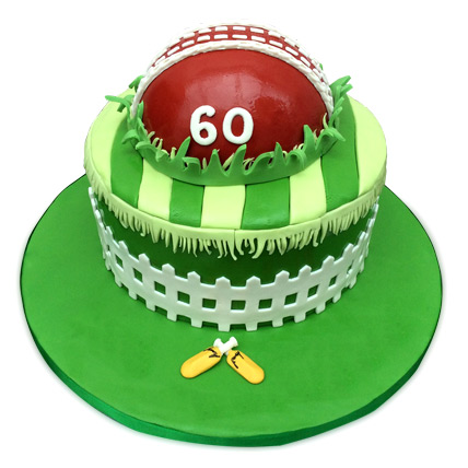 Designer Cricket Fever Cake 4kg Eggless Black Forest