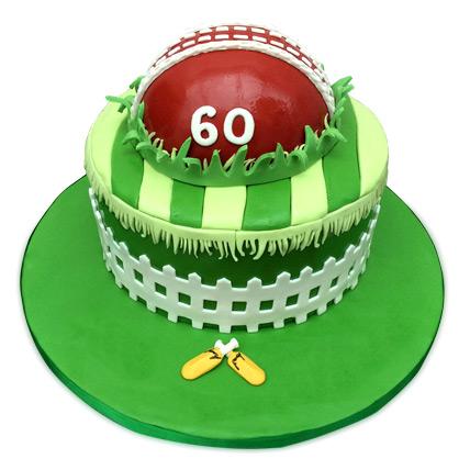 Designer Cricket Fever Cake 4kg Eggless Pineapple