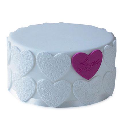 Elegant Love Cake 2kg Eggless Pineapple