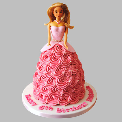 Flamboyant Barbie Cake Pineapple 2kg Eggless