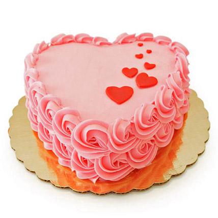 Floating Hearts Cake 2kg Eggless