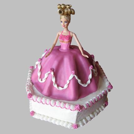 Florid Barbie Cake 3kg Eggless