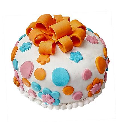 Fondant Baby Bash Cake Half Kg Eggless