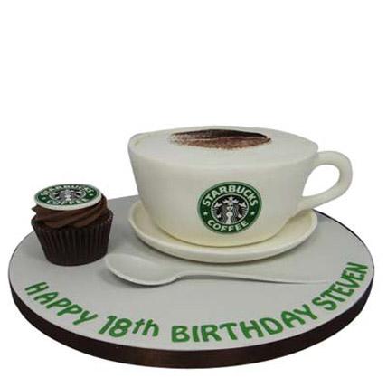 Forever Starbucks Cake 3kg Eggless